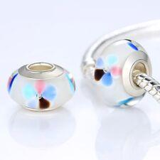 High Quality 925 Silver Plated Murano Glass Beads Pandora Charm Bracelet Jewelry