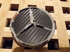 ***Neu 2017 Mercedes-Benz 4x75mm Schwarz Carbon Emblem Nabenkappen Logo