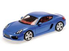 MINICHAMPS 2012 Porsche Cayman S Coupe 981 Blue 1:18 *New!
