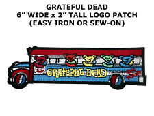 GRATEFUL DEAD EMBROIDERED PATCH BERTHA WOODCUT JERRY GARCIA THE DEAD DIY