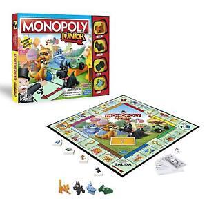 Juego Mesa Monopoly Junior Hasbro,4 jugadores,tablero,peones,billetes,cartas,etc