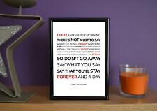 Framed - Oasis - Don't Go Away - Poster Art Print - 5x7 Inches
