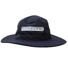 SHIMANO Adjustable Micro Fibre Wide Brim Fishing Bucket Hat NAVY quick dry