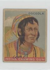 1933 Goudey Indian Gum R73 Series of 96 #29 Osceola Non-Sports Card z6d