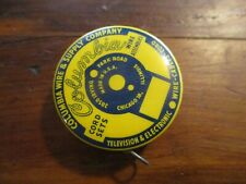 Vintage Celluloid advertising tape measures COLUMBIA WIRE & SUPPLY CO