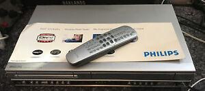 Philips DVP721VR DVD VCR Combi 6 Head VHS Video Recorder Player W/Remote