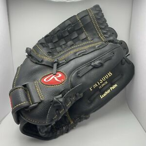 """Rawlings Playmaker Black Leather Glove PM1300B Pitcher Outfield 13"""" Left Hand"""