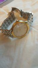 Omega Deville 18k Solid Gold & Acero Vestido Reloj Papeles Originales