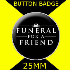 FUNERAL FOR A FRIEND - LOGO-  BUTTON BADGE 25MM D PIN BACK - GREAT GIFT FOR FAN