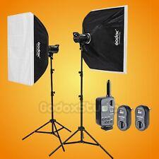 Godox DS300 X2 600W Studio Flash Strobe Light 60x90cm Softbox Kit w/ FT-16 110V