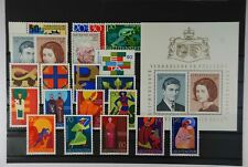 B2 Eur Liechtenstein 474-494 jahrgang 1967 Kompl + Blockeinzelmarken Postfr