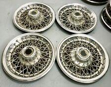 """Vintage Set of 4 OEM 14"""" General Motors Corp. 14"""" RWD  Wire Hubcaps Wheel Covers"""