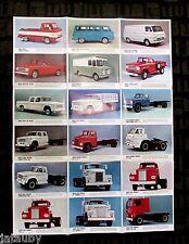 Vintage 1967 DODGE TRUCK SALES BROCHURE CATALOG FOLDOUT POSTER VAN RV PICKUP