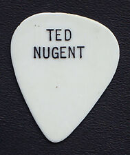 Vintage Ted Nugent Single-Sided White Guitar Pick - 1970s Tours