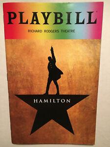 HAMILTON PRIDE PLAYBILL BOOK NEW YORK BROADWAY JUNE 2018