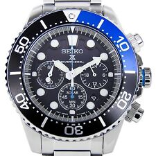 NEW MENS SEIKO PROSPEX SOLAR CHRONOGRAPH 200M AIR DIVERS SPORTS WATCH SSC017P1