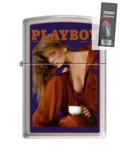 Zippo 4756 Playboy Cover-February 1986 Brushed Chrome Lighter + FLINT PACK
