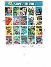USPS DC COMICS SUPER HEROES CHAPTER ONE STAMP SHEET 2006 MINT
