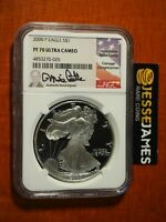 2000 P PROOF SILVER EAGLE NGC PF70 ULTRA CAMEO RARE MIKE CASTLE SIGNED LOW POP!