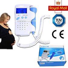 LCD Fetal Doppler Fetus Heart detector Baby Doppler Sound pulse Monitor 3Mhz
