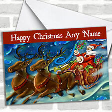 Santa And Reindeer Christmas Customised Card Personalized