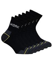 6 paia calze Caviglia da lavoro rinforzate su punta e tallone cotone spugna 6WRK
