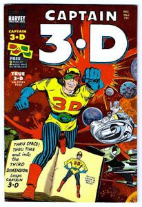 CAPTAIN 3-D #1 VF/NM Harvey Comic FILE COPY 1953 Jack Kirby & Ditko with glasses