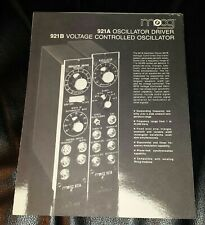 Moog Synthesizer brochure, 921A, 921B VCO, 1974 vintage, 4 page.