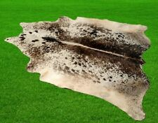 """New Cowhide Rugs Area Cow Skin Leather 21.38 sq.feet (57""""x54"""") Cow hide 6334"""