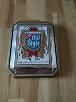 Vintage Non Lighted Heileman's Old Style Beer Crystal Sign