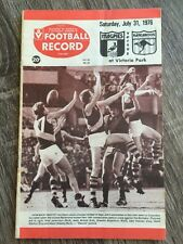 1976 VFL AFL football record Collingwood Magpies V North Melbourne Kangaroos