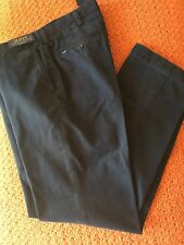 NEW RALPH LAUREN CLASSIC PLEATED PANTS KHAKIS CHINOS NAVY BLUE FLAT FRONT 34/ 34