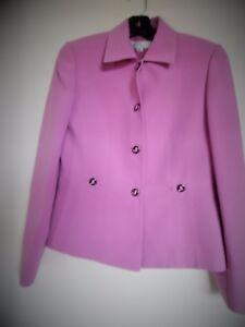 Women's Tahari By Arthur Levine Pink Blazer Jacket Size 4P