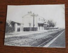 Photographie ancienne 1904 Gare de Bouc Cabriés Bouches-du-Rhône Provence Train