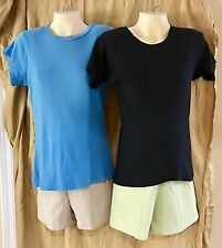 MATERNITY WEAR SHORTS ~~Set of Two (2) ~~. Beige & Lime Green,,,,  New w/ Tags