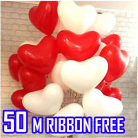 WEDDING  DAY Helium Foil Balloons Wholesale Job Lot 50 Pink  Heart VALENTINES