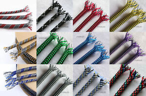 1M/5M Braided Soft PP Cotton Yarn + PET Expandable Sleeving Cable Wire Sheath