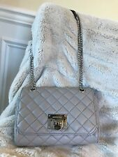 NWT MICHAEL MICHAEL KORS QUILTED LEATHER VIVIANNE SHOULDER FLAP BAG IN PEARLGREY