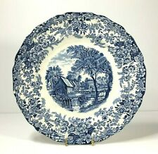 Millstream by Johnson Brothers, England in Blue Plate, Dish