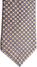 "Nautica Men's Silk Tie 56.5"" X 4"" Brass multi-color Geometric"