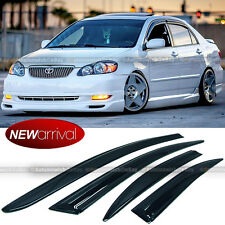 For 03-07 Toyota Corolla Acrylic MU Style Wavy Window Visors - 4 Pcs Visor Set