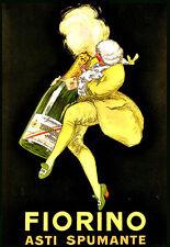 L'ARTE Annuncio FIORINO ASTI SPUMANTE DRINK BEVANDE Deco Poster stampati