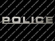 Police Metal Wall Art Sign Plasma Cut Stencil Rescue Law Enforcement Gift Idea
