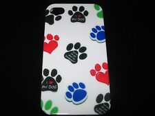 Dog Paw Print Cover Case for the iPhone 4 4s New Paw Print White Background Case