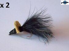 2 mouche flies Diver Bass Bugg blackbass perche brochet