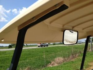 Rearview mirror w/ a SLIGHT BLEMISH for golf carts EZ Go, Club Car, Yamaha...