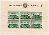 1961 SAN MARINO FOGLIETTO EUROPA '61 INTEGRO MNH D/2800