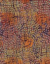 TIMELESS TREASURES Batik #B7466 RUST QUILT FABRIC