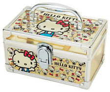 Hello Kitty Yellow Plastic Vanity Case Jewelry Box Sanrio *Brand New*