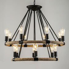 Rope Chandelier Pendant Light Restoration Hardware Lights Lamp Ceiling Fixture